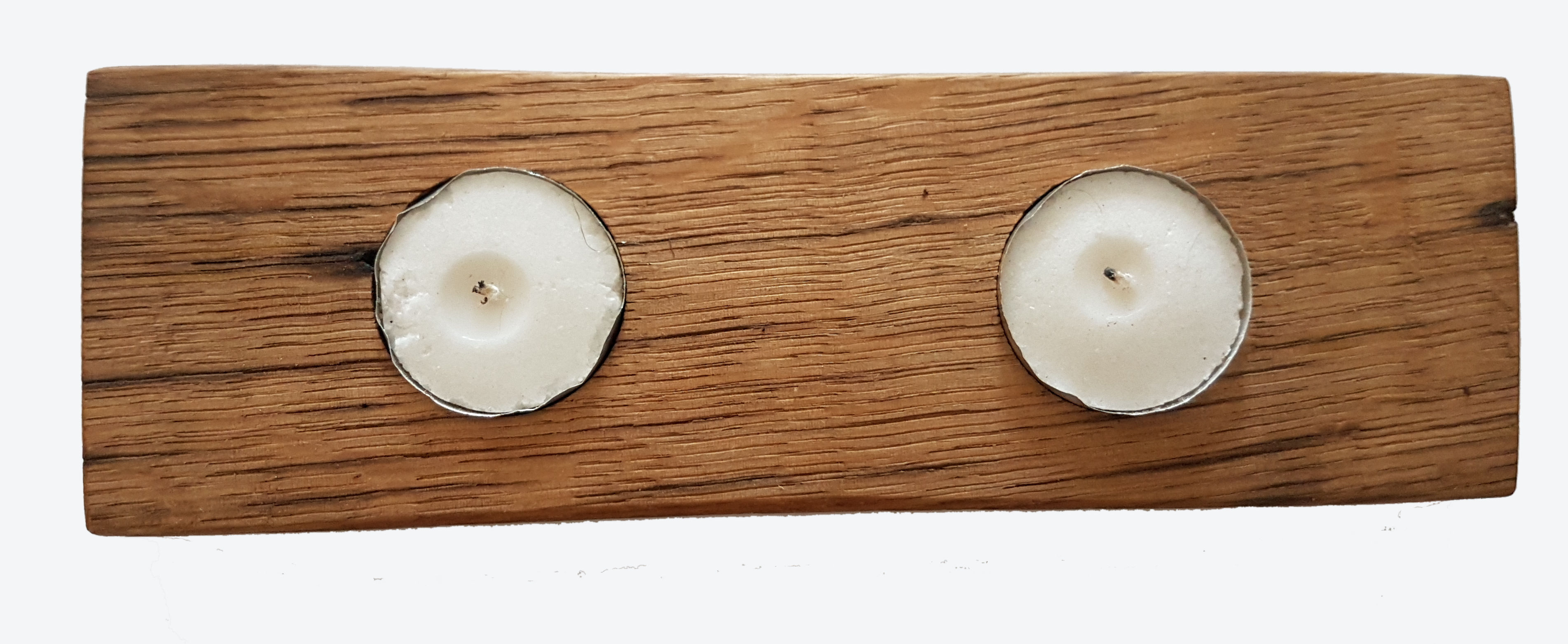 Double tea candle holder