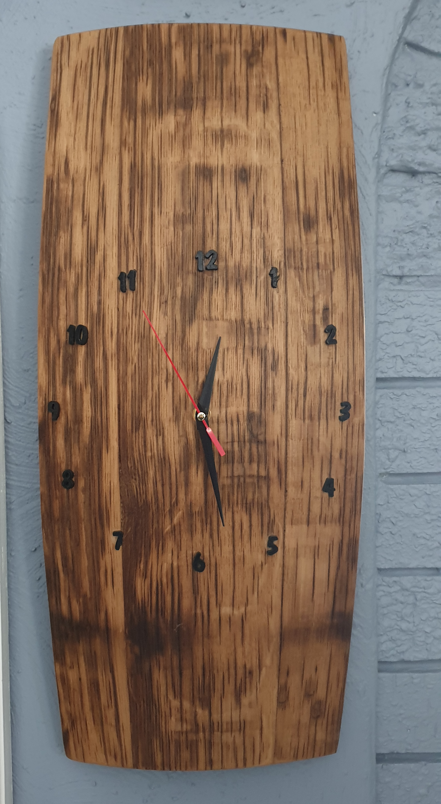 Oak Barrel Clock