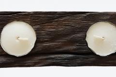 Tea Candle Holder mahogany