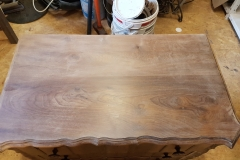 The top after cleaning and sanding