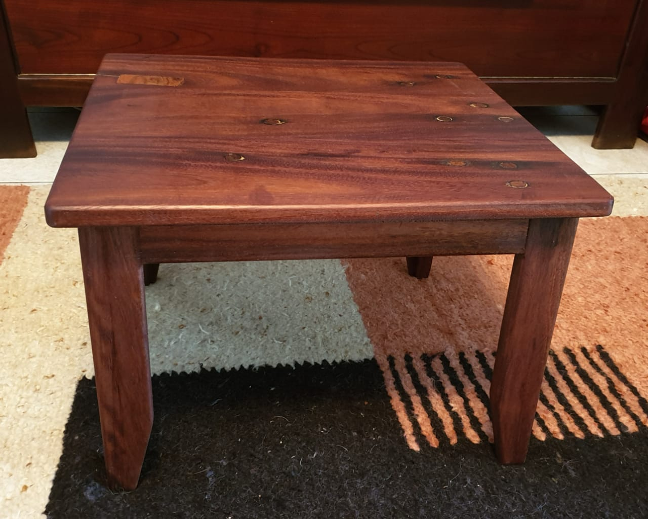 Sleeper Wood Table from the side
