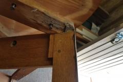 Oak Table underside