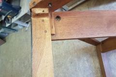 oak table side
