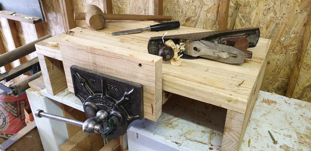 Mounted to the workbench