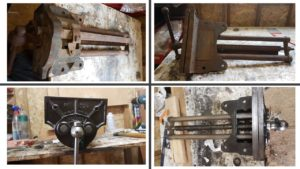 Before and after shots. The broken spring can be seen next to the vice in the bottom right picture.